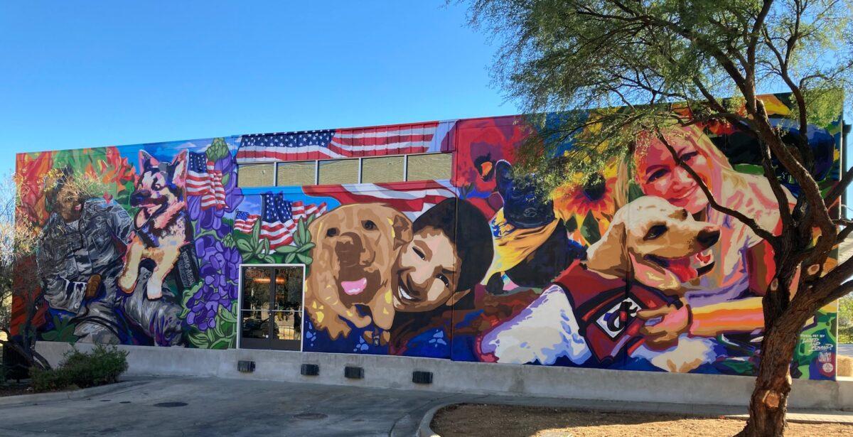 "K9 Heroes Mural, ""Best Friends"", by Jay Rivera and J Muzacz"